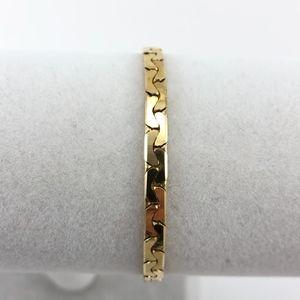 Jewelry - NWOT Herringbone Chain Bracelet 14K Gold Plate